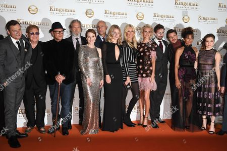 Taron Egerton, Elton John, David VaughnJeff Bridges, Julianne Moore, Mark Strong, Hanna Alstrom, Claudia Schiffer, Poppy Delevingne, Edward Holcroft, Pedro Pascal, Halle Berry and Sophie Cookson