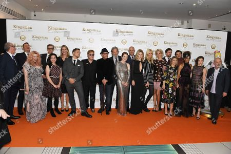 David Gibbons, Channing Tatum, Colin Firth, Taron Egerton, Elton John, David VaughnJeff Bridges, Julianne Moore, Mark Strong, Hanna Alstrom, Claudia Schiffer, Poppy Delevingne, Edward Holcroft, Pedro Pascal, Halle Berry and Sophie Cookson, Keith Allen