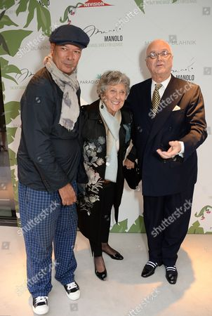 Michael Roberts, Joan Burstein and Manolo Blahnik