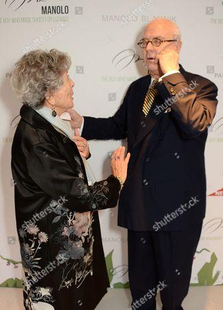 Joan Burstein and Manolo Blahnik