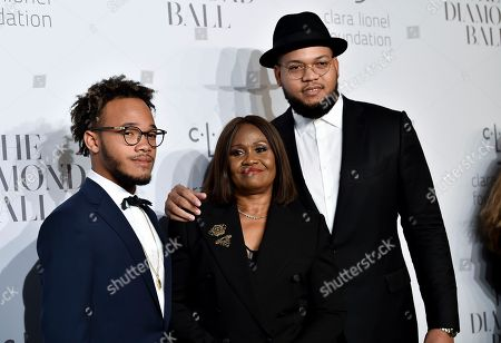 Rajad Fenty, Monica Braithwaite, Rorrey Fenty. Monica Braithwaite, center, poses with sons Rajad Fenty, left, and Rorrey Fenty at the 3rd Annual Diamond Ball at Cipriani Wall Street, in New York