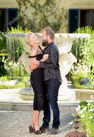 Editorial picture of Sting and wife Trudy Styler Celebrate their Sister Moon Red Wine, Il Palagio, Tuscan Hills, Florence, Italy - 04 Aug 2015
