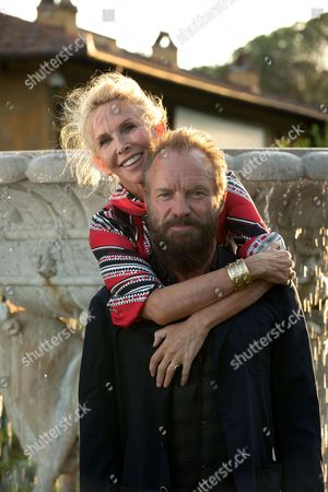 Stock Picture of Sting and his wife Trudie Styler
