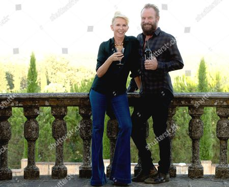 Stock Image of Sting and his wife Trudie Styler