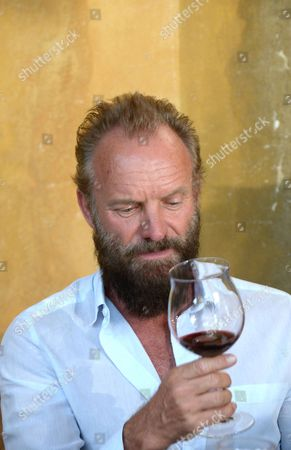 Editorial image of Sting and wife Trudy Styler Celebrate their Sister Moon Red Wine, Il Palagio, Tuscan Hills, Florence, Italy - 04 Aug 2015