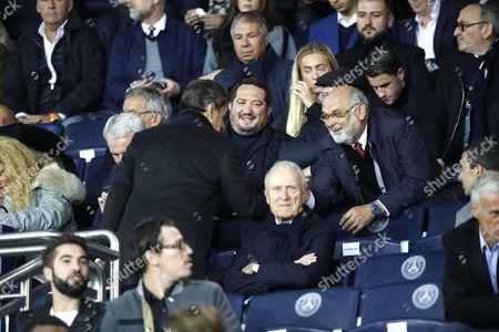 Stock Picture of Nicoals Sarkozy and Robert Hue