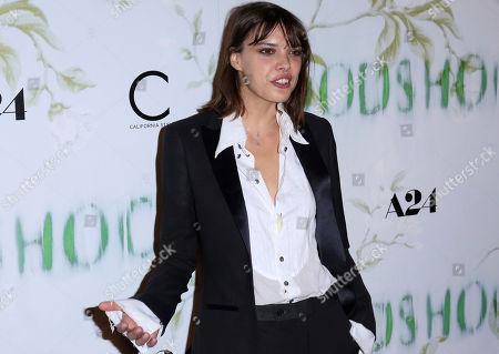 "Eva Dolezalova arrives at the LA Premiere of ""Woodshock"" at the Arclight Hollywood, in Los Angeles"
