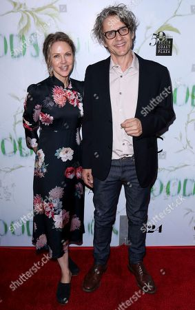 """Dean Wareham, Britta Phillips. Dean Wareham, right, and Britta Phillips arrive at the LA Premiere of """"Woodshock"""" at the Arclight Hollywood, in Los Angeles"""