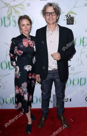 """Stock Image of Dean Wareham, Britta Phillips. Dean Wareham, right, and Britta Phillips arrive at the LA Premiere of """"Woodshock"""" at the Arclight Hollywood, in Los Angeles"""