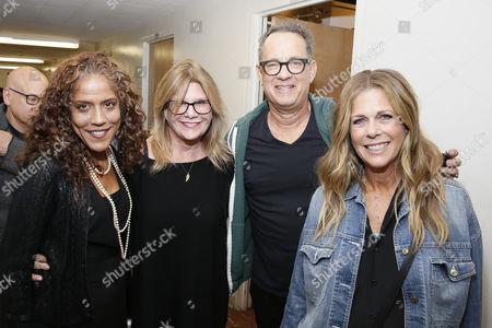 Russlynn Aly, Lisa Paulsen, Tom Hanks and Rita Wilson