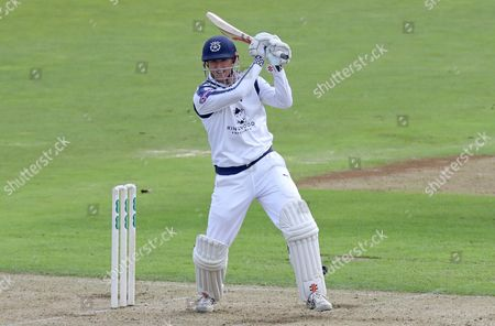 George Bailey of Hampshire scores his first boundary of the innings during Hampshire CCC vs Essex CCC, Specsavers County Championship Division 1 Cricket at the Ageas Bowl on 19th September 2017