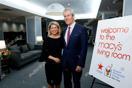 Tina Lundgren, Terry Lundgren. Tina Lundgren, Chair of the Board of Ronald McDonald House New York, and her husband, Macy's chief executive Terry Lundgren, pose in the newly renovated Macy's Living Room during the Ronald McDonald House Grand Re-Opening, in New York