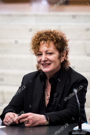 Nan Goldin during the press conference