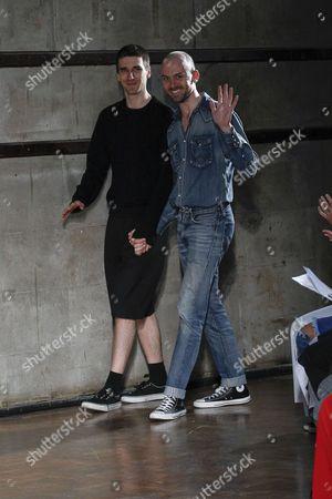 Levi Palmer and Matthew Harding on the catwalk