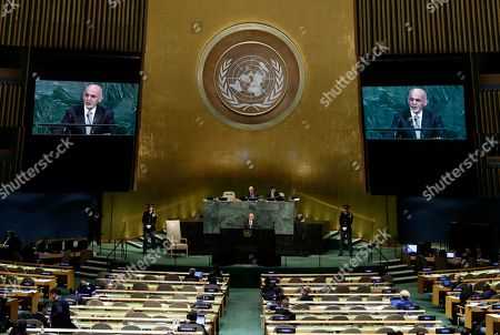Afghanistan's President Ashraf Ghani Ahmadzai addresses the United Nations General Assembly, at the U.N. headquarters