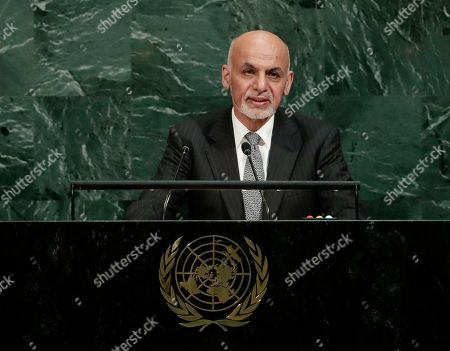 Afghanistan's President Ashraf Ghani Ahmadzai addresses the United Nations General Assembly, at the United Nations headquarters