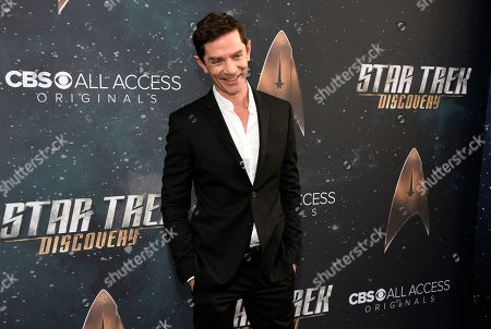 """Cast member James Frain poses at the premiere of the new television series """"Star Trek: Discovery"""", in Los Angeles"""