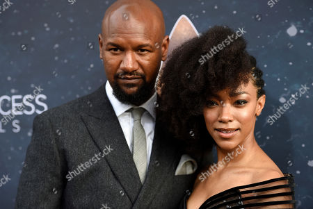 "Sonequa Martin-Green, Kenric Green. Cast member Sonequa Martin-Green poses with her husband Kenric Green at the premiere of the new television series ""Star Trek: Discovery"", in Los Angeles"
