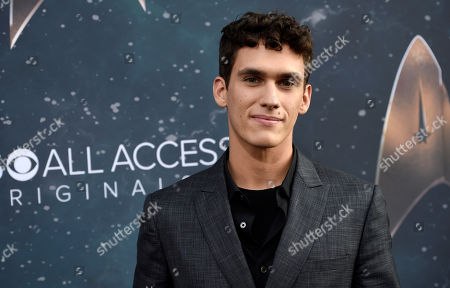 "Stock Picture of Cast member Sam Vartholomeos poses at the premiere of the new television series ""Star Trek: Discovery"", in Los Angeles"