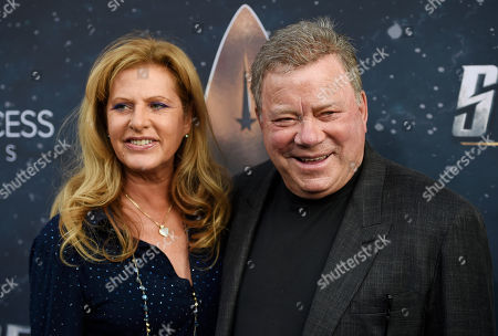 """William Shatner, Elizabeth Shatner. William Shatner, a cast member in the original television series """"Star Trek,"""" poses with his wife Elizabeth at the premiere of the new television series """"Star Trek: Discovery"""", in Los Angeles"""