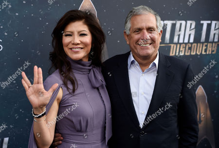 "Les Moonves, Julie Chen. Les Moonves, right, chairman and CEO of CBS Corporation, poses with his wife, television personality Julie Chen, at the premiere of the new television series ""Star Trek: Discovery"", in Los Angeles"