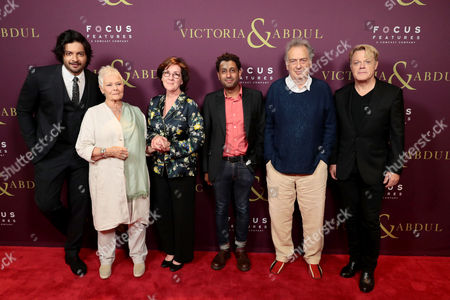Stock Photo of Ali Fazal, Judi Dench, Consolata Boyle, Costume Designer, Adeel Akhtar, Stephen Frears, Director, Eddie Izzard