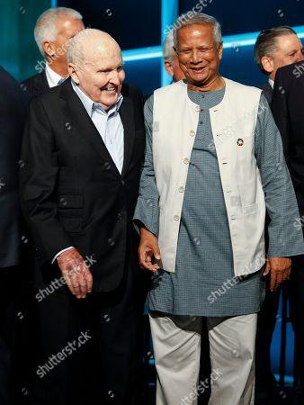 Jack Welch, Muhammad Yunus. Jack Welch, left, and Muhammad Yunus, right,