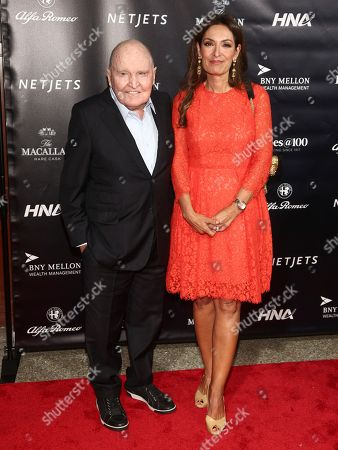 Stock Photo of Jack Welch, Suzy Welch. Jack Welch, left, and Suzy Welch, right,