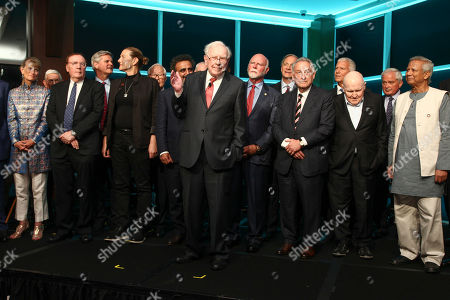 Stock Picture of Jacqueline Novogratz, James Patterson, Steve Case, Martine Rothblatt, Hamdi Ulukaya, Warren Buffett, Craig Venter, Ray Dalio, Sandy Weill, Jack Welch, Muhammad Yunus. Jacqueline Novogratz, from left, James Patterson, Steve Case, Martine Rothblatt, Hamdi Ulukaya, Warren Buffett, Craig Venter, Ray Dalio, Sandy Weill, Jack Welch and Muhammad Yunus