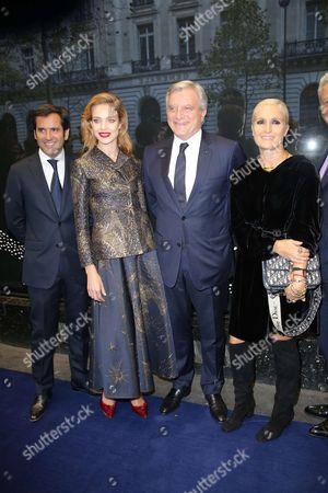 Nicolas Houze, Natalia Vodianova, Sidney Toledano, CEO of Christian Dior and Maria Grazia Chiuri