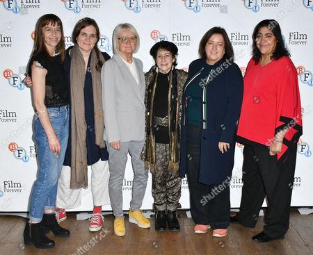 (l-R) Kate Dickie, Sophie Fiennes, Nina Kellgren, Renée Glynne, Heather Stewart, Gurinder Chadha