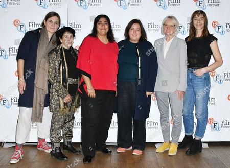 (L-R) Sophie Fiennes, Renée Glynne, Gurinder Chadha, Heather Stewart, Nina Kellgren, Kate Dickie