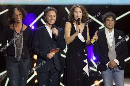 Philippe Lavil, Mariejosee Alie, Stephane Bern, Marie-Sophie Lacarrau et Laurent Voulzy.