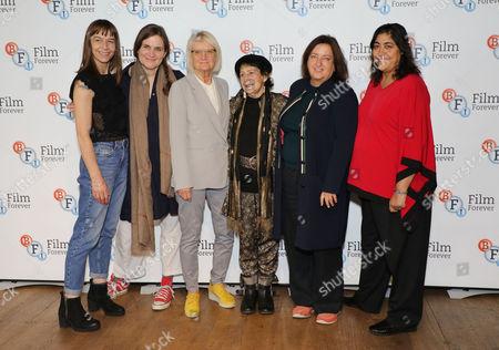 Sophie Fiennes, Renee Glynne, Gurinder Chada, Heather Stewart, Nina Kellgren and Kate Dickie