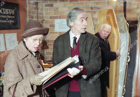 Stock Picture of Georgine Anderson (as Minnie Bateson) and Peter Benson (as Bernie Scripps)