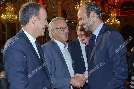 Francois Rebsamen with Edouard Philippe