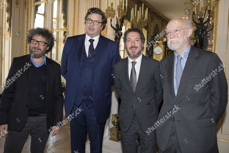 Claude Miller, Carlo d'Asare Blondo President of Google Europe, Guillaume Gallienne and Nicolas Seydoux President of the Association of the Fight against Audiovisual Piracy.