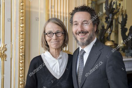 Francoise Nyssen Minister of Culture and Guillaume Gallienne.