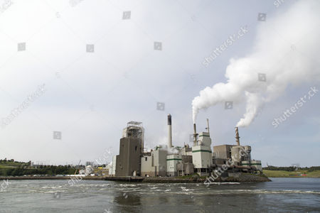 Stock Picture of The Irving Pulp and Paper Mill in Saint John