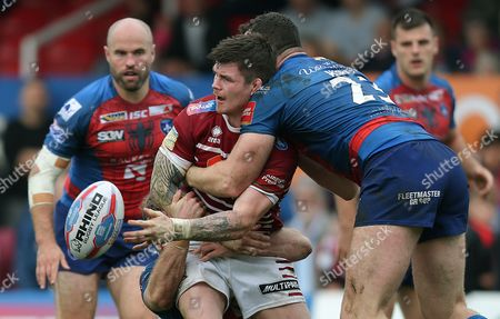 Editorial picture of Wakefield Trinity v Wigan Warriors, Betfred Super League Super 8s, Rugby League, Beaumont Legal Stadium, Wakefield, UK - 23 Sep 2017