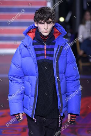 Stock Picture of Eli Epperson on the catwalk