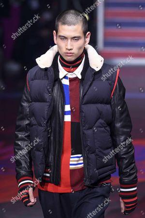 Editorial photo of Tommy Hilfiger show, Runway, Spring Summer 2018, London Fashion Week, UK - 19 Sep 2017