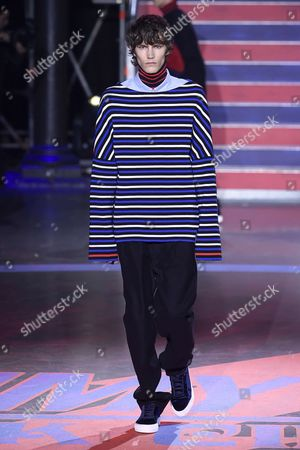 Editorial picture of Tommy Hilfiger show, Runway, Spring Summer 2018, London Fashion Week, UK - 19 Sep 2017
