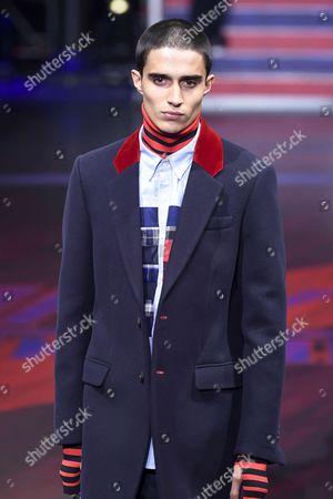 Stock Photo of Xavier Hickman on the catwalk