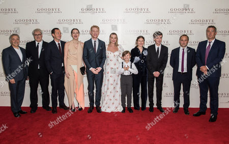 guest, Simon Curtis, Stephen Campbell Moore, Phoebe Waller-Bridge, Domhnall Gleeson, Margot Robbie, Will Tilston, Kelly Macdonald and Alex Lawther, guest and Damian Jones