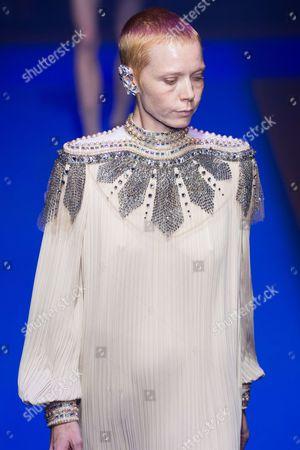 Editorial photo of Gucci show, Runway, Spring Summer 2018, Milan Fashion Week, Italy - 20 Sep 2017