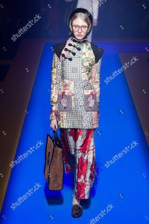 Editorial image of Gucci show, Runway, Spring Summer 2018, Milan Fashion Week, Italy - 20 Sep 2017