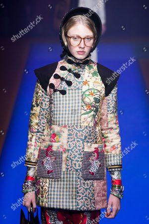 Stock Photo of Maryna Polkanova on the catwalk