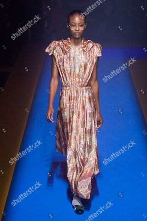 Stock Picture of Alicia Burke on the catwalk