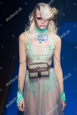 Editorial photo of Gucci show, Runway, Spring Summer 2018, Milan Fashion Week, Italy - 20 Sep 2017